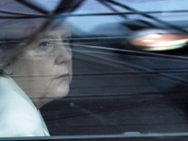 German Chancellor Merkel arrives on the second day of a European Union leaders summit in Brussels