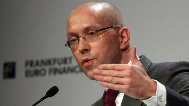 File photo of Germany's Finance State Secretary holding his speech during the 14th Euro Finance Week in Frankfurt