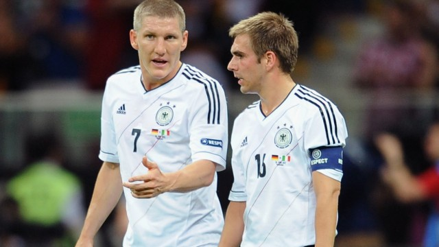 Schweinsteiger Lahm Deutschland Italien EURO 2012 Halbfinale