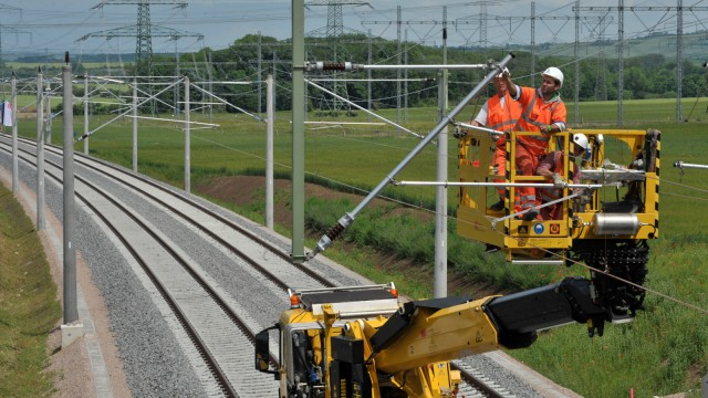 Bauarbeiten an ICE-Neubaustrecke