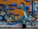 Schwere Zeiten in Griechenland: ein Graffiti in Athen.