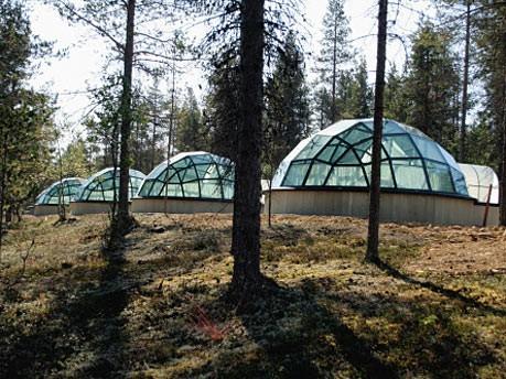 Skurrile Herbergen - Glasiglus (Kakslauttanen/Lappland/Finnland): Am ...