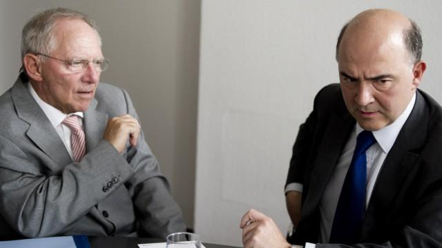 'Spiegel': Euro-Vorsitz soll zwischen Schaeuble und Moscovici rotieren