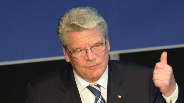 Gauck besucht Festakt der DFG
