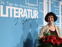Russian born German writer Martynova poses after she was awarded with the Ingeborg Bachmann Prize in Klagenfurt