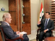 Bas003Baschar al-Assad im Interview im 'Weltspiegel'