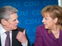 Joachim Gauck und Angela Merkel