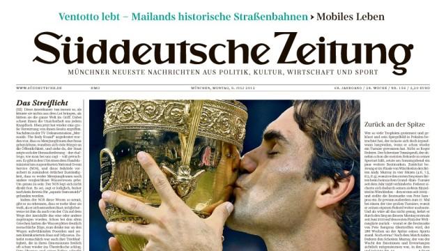 Das neue Layout der Süddeutschen Zeitung