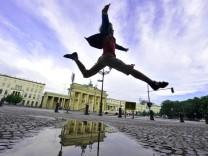 Starke Regenschauer in der Hauptstadt