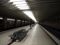 Münchner U-Bahn nach Betriebsschluß, 2007