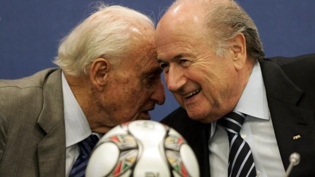 Joseph Blatter und Joao Havelange