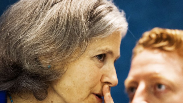 Jill Stein, US-Präsidenschaftskandidatin der Grünen, und Wahlkampfmanager Ben Manski
