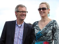 EX-Bundespraesident Wulff mit neuer Brille beim Ascot-Renntag in Hannover