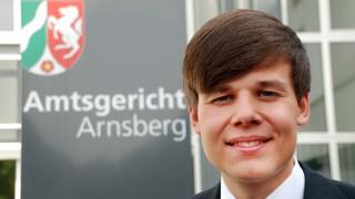 Marcel Pohl vor dem Amtsgericht Arnsberg