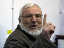 Asis Dweik nach seiner Festnahme im Januar Hamas Israel