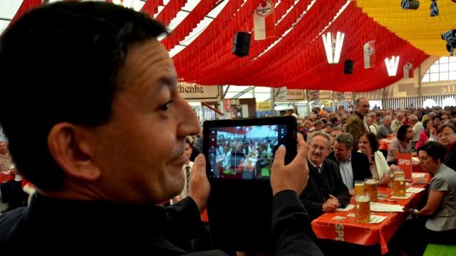 Christian Ude , SPD Bayern in Hersbruck Bierzelt