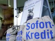 Sofortkredit-Werbung, Foto: ddp