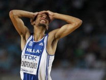 File photo of Chondrokoukis of Greece during the men's high jump final at the IAAF World Championships in Daegu