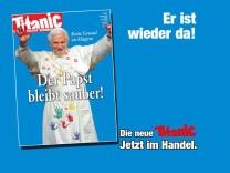August-Cover der Satirezeitschrift Titanic erneut mit Papst Benedikt XVI.