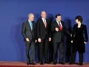 Van Rompuy, Reinfeldt, Barroso, Ashton, AFP