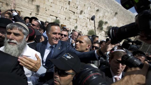 Mitt Romney Präsidentschaftskandidat in Israel