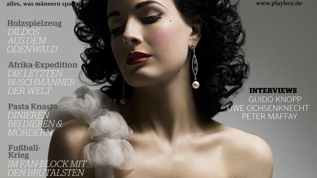 Playboy Dita Von Teese Auf Dem Playboy Cover 2008 Medien