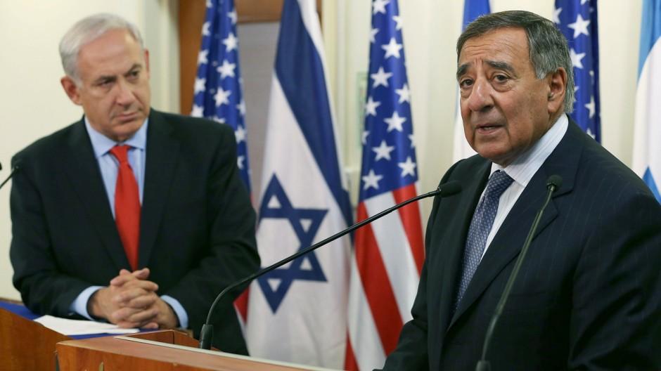 Israels Premierminister Netanjahu und US-Verteidiungsminister Panetta