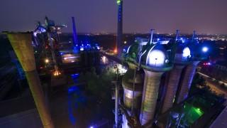 Beleuchtung im Landschaftspark Nord in Duisburg