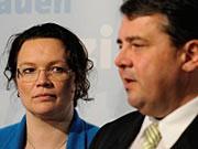 Andrea Nahles Sigmar Gabriel SPD ddp