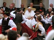 Bayerische Pilger bei Papst Benedikt XVI.