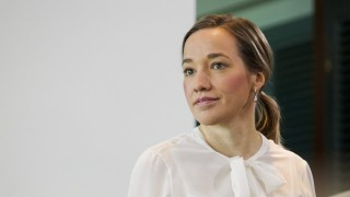 German Family Minister Kristina Schroeder attends cabinet meeting at Chancellery in Berlin