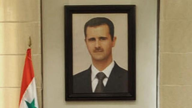 Porträt des syrischen Diktators Baschar al-Assad