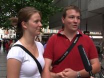 Videoumfrage Wirtschaft zur Eurokrise