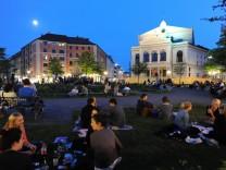 Abendstimmung am Gärtnerplatz, 2012