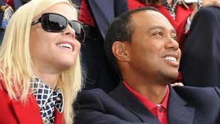 Tiger Woods und Elin Nordegren; AFP