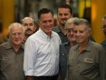 Mitt Romney auf Wahlkampf-Besuch bei der weißen Arbeiterklasse
