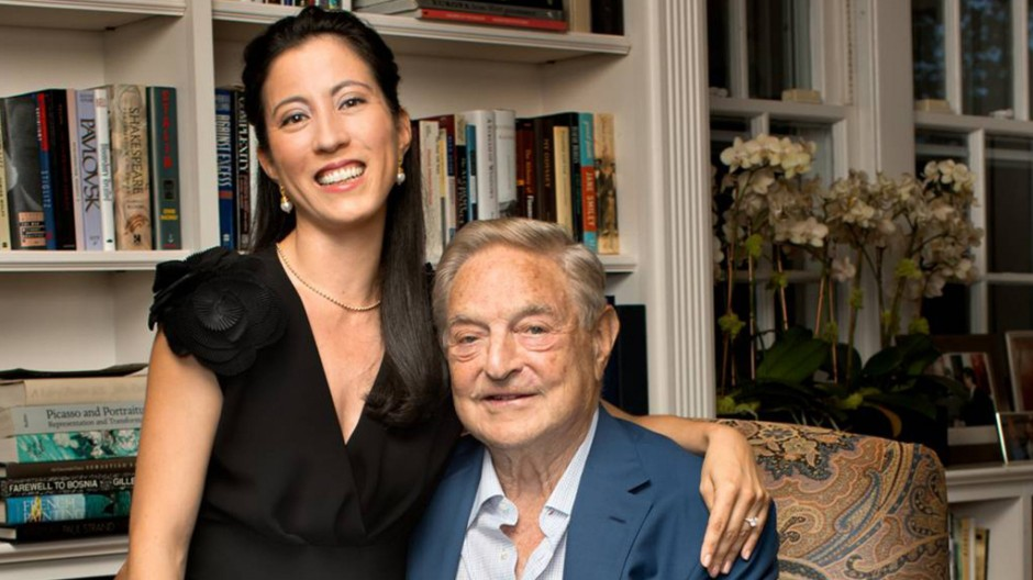 Billionaire investor George Soros and girlfriend Tamiko Bolton are pictured at Soros' residence in Southampton, New York