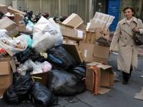Müllabfuhr-Streik in Athen