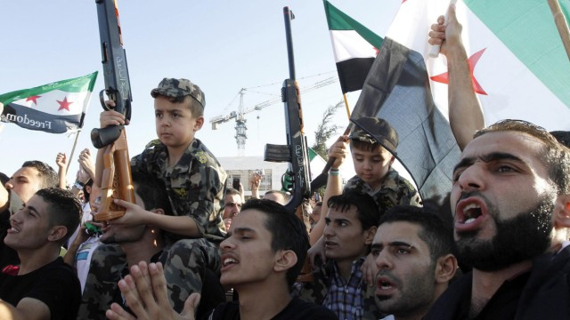 Protest in front of Syrian embassy in Amman