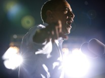 Obama Holds Campaign Rally in Waterloo, Iowa