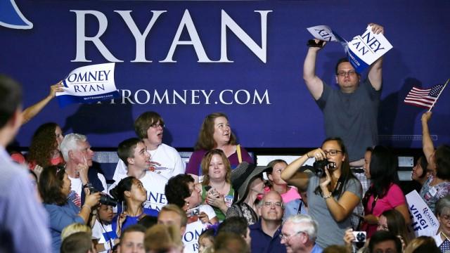 Romney's Vice Presidential Pick Paul Ryan Campaigns In Virginia