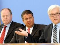 Peer Steinbrück - Sigmar Gabriel - Frank-Walter Steinmeier