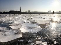 Eis am Rhein