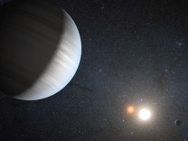 Im Planetensystem Kepler-47 kreisen zwei Planeten um zwei Sonnen.