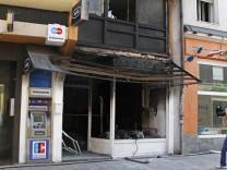 Gebäudeschaden nach kontrollierter Bombensprengung in München Schwabing, 2012