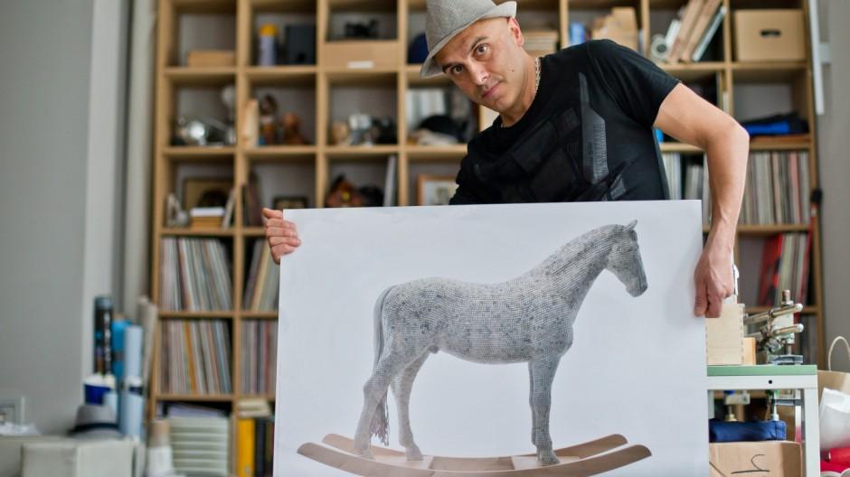 Pferdeskulptur Prozess
