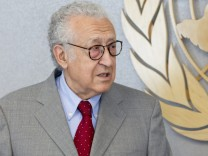 The Secretary-General with Lakhdar Brahimi, newly-appointed Joint