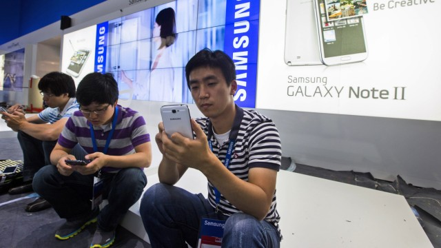 Samsung Technologiekonzern in der Kritik