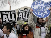 Demonstration gegen Abtreibung in Washington