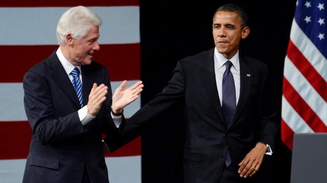 Bill Clinton wirbt für Barack Obama